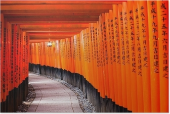 Poster Fushimi Inari Shrine in Kyoto-klaar is, Japan