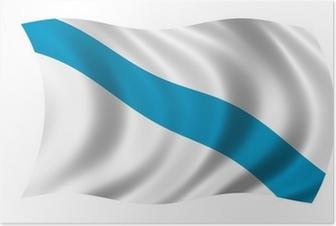Póster Galicien fahne bandera de galicia