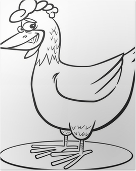 Póster Gallo De Dibujos Animados Pixers Vivimos Para Cambiar