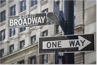 Poster Ganneau Broadway à New-York