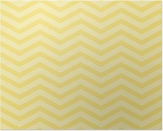 Poster Gele Chevron Zigzag geweven stof Achtergrond van het Patroon
