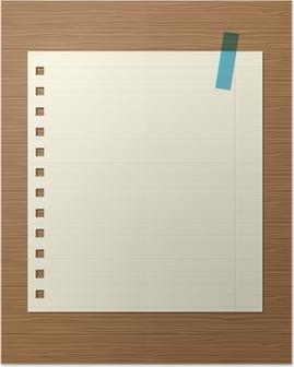 Ongebruikt Poster Blauwe gelinieerd papier • Pixers® - We leven om te veranderen JM-53