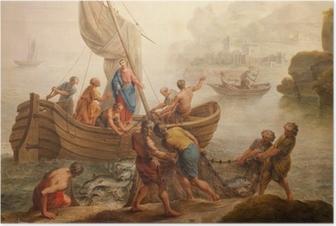 Poster Gent - Verf wonder vissen vanaf st. Peter s kerk