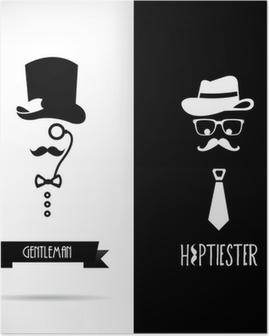 Poster Gentleman et hippie