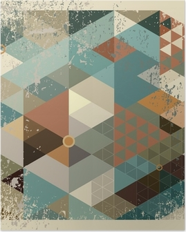 geometric background Poster