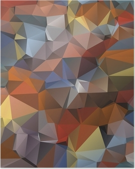 Geometric pattern, triangles background. Poster