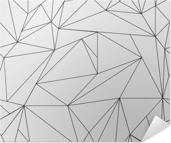 Geometric simple black and white minimalistic pattern, triangles or stained-glass window. Can be used as wallpaper, background or texture. Poster