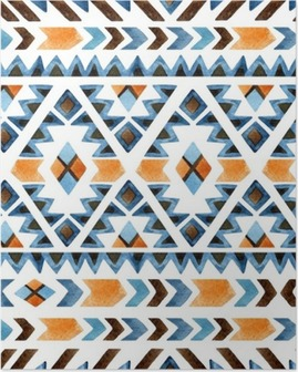 Geometrical ethnic seamless pattern Poster