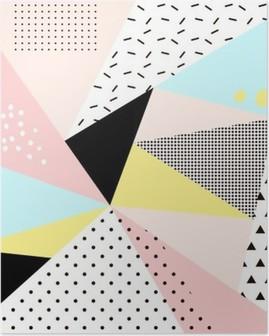 Poster Geometrisch Memphis background.Retro ontwerp voor de uitnodiging, visitekaartje, poster of banner.