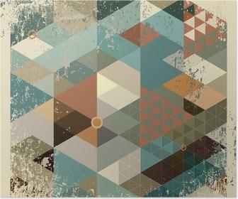 Poster Geometrische achtergrond.