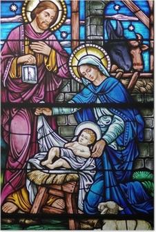 Poster Glas in lood weduwe van geboorte