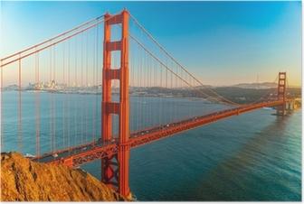 Poster Golden Gate, San Francisco, Kalifornien, USA.