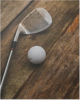 Poster Golf ball