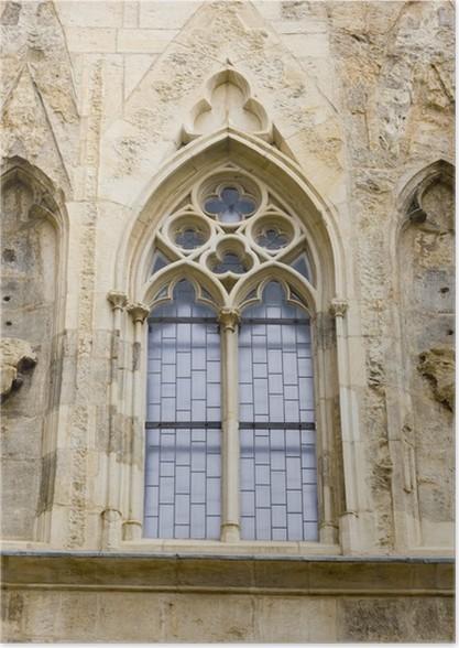 Gothic Window House At The Bell U Zvonu Prague Poster