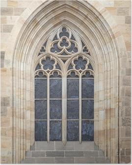 Poster Gotische venster