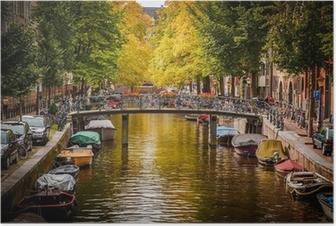 Poster Gracht in Amsterdam