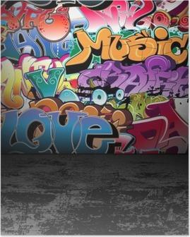 Poster Graffiti muur urban street art schilderij