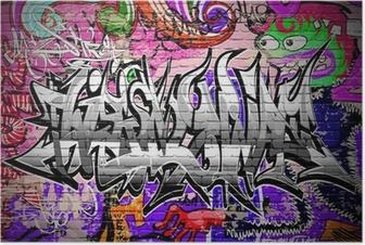 Poster Graffiti vector art. Stedelijke muur met verf
