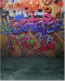 Poster Graffiti wall art urbain peinture