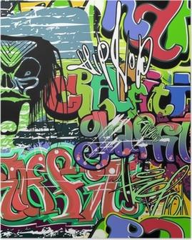 graffiti wall vector seamless background Poster