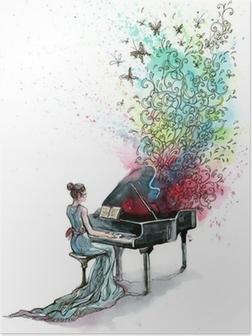 Poster Grand pianomuziek (reeks C)