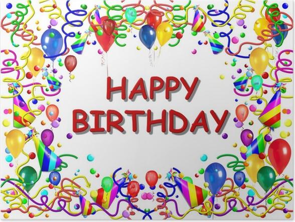 gratulerar med födelsedagen Poster Gratulerar på födelsedagen 1 • Pixers®   Vi lever för  gratulerar med födelsedagen