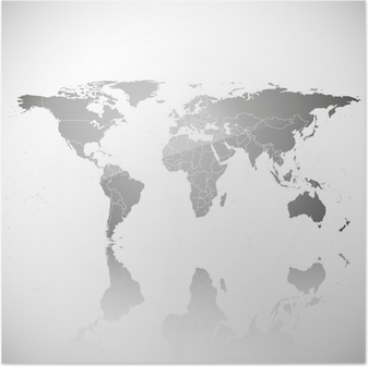 Political world map poster pixers we live to change gray political world map vector poster gumiabroncs Image collections