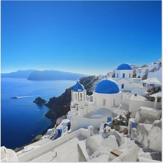 Poster Grèce - Santorin (Oia village)