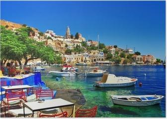 Greek holidays. Symi island Poster