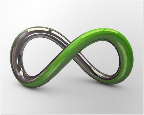 Green And Silver Infinity Symbol Poster Pixers We Live To Change