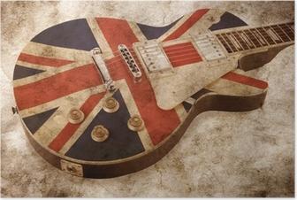 Poster Grunge brit pop gitarr