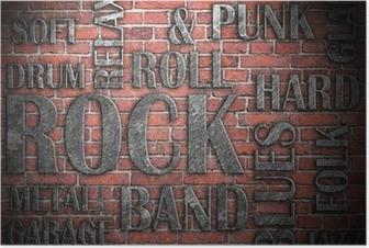 Grunge rock music poster Poster