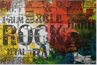 Poster Grunge rock muziek poster