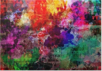 Grunge style abstract watercolor background Poster