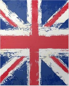 Grunge Union Jack Poster