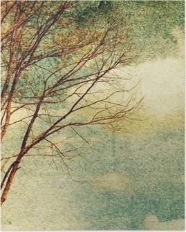 Grunge vintage nature background Poster