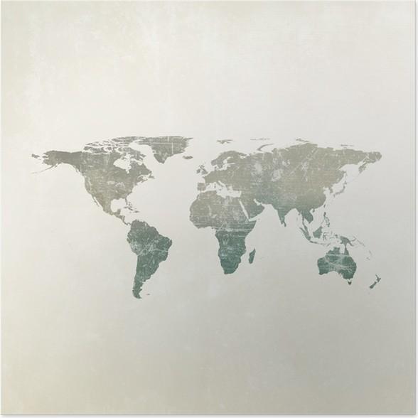 Grunge world map background poster pixers we live to change grunge world map background poster gumiabroncs Choice Image