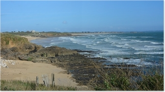 Poster Guidel, plage fort Bloqué, Bretagne