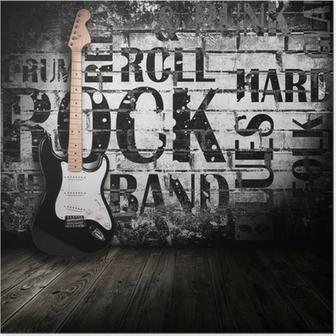 Poster Guitare électrique dans la chambre