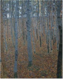 Poster Gustav Klimt - Berkenbos