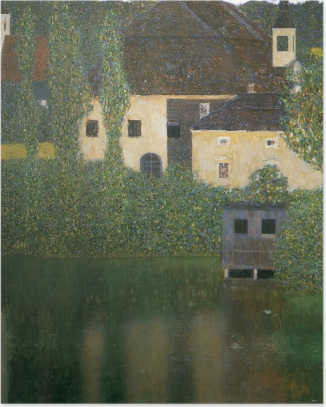 Poster Gustav Klimt - Château Kammer sur le lac Atter - Reproductions