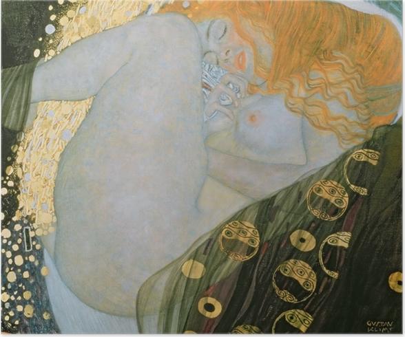 Poster Gustav Klimt - Danae - Reproducties