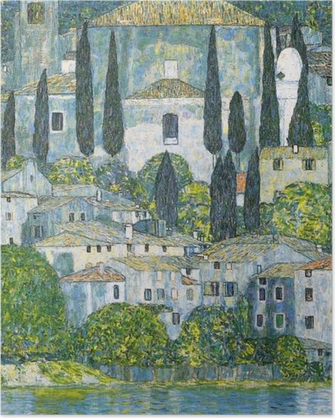 Poster Gustav Klimt - Eglise de Cassone - Reproductions