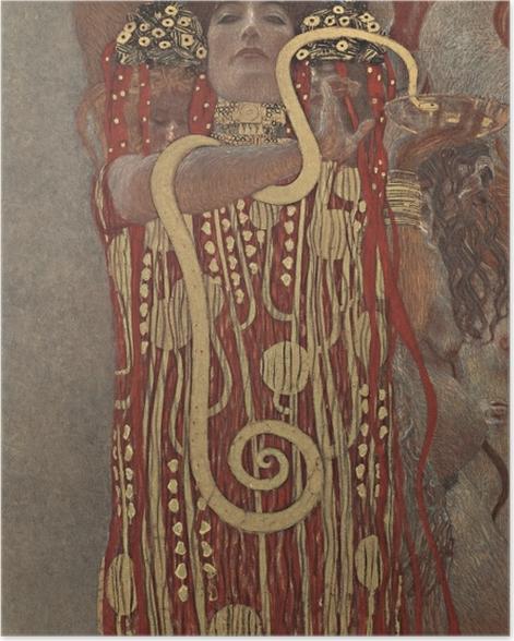 Poster Gustav Klimt - Hygiea - Reproductions