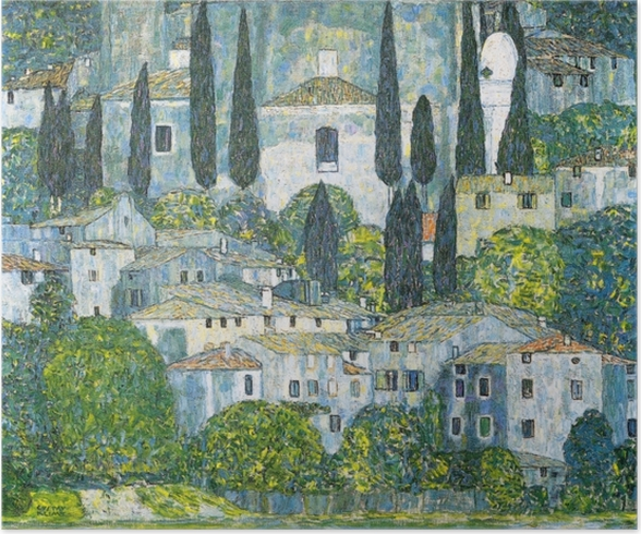 Poster Gustav Klimt - Kerk in Cassone - Reproducties
