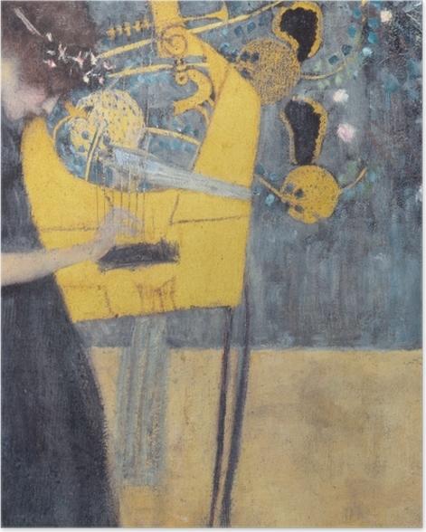 Poster Gustav Klimt - La musique - Reproductions