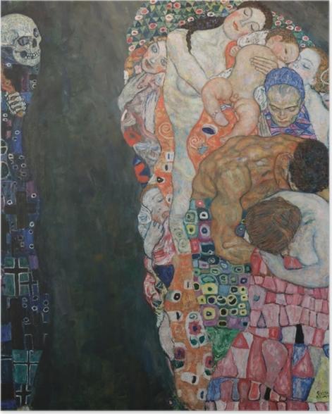 Poster Gustav Klimt - La Vie et la Mort - Reproductions