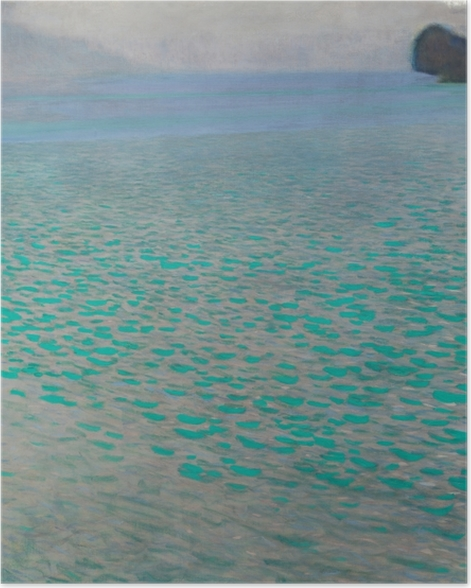 Poster Gustav Klimt - Lac d'Attersee - Reproductions