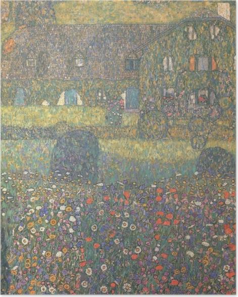 Poster Gustav Klimt - Maison de campagne près de l'Attersee - Reproductions