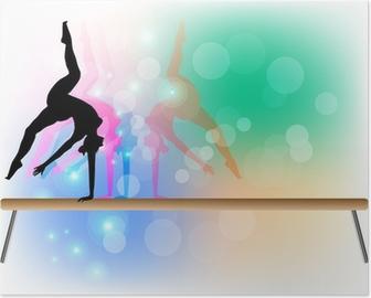Poster Gymnastique artistique - Poutre